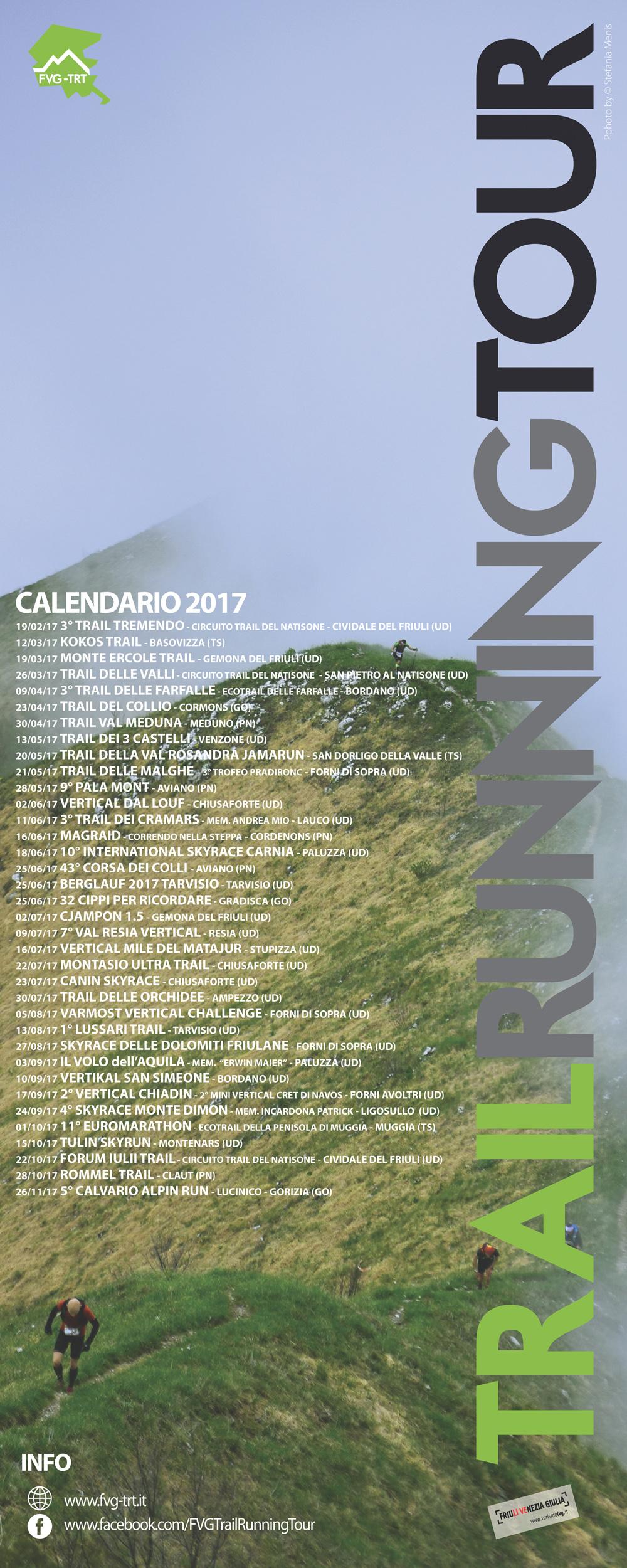 Calendario Running.Calendario Fvg Trail Running Tour 2017 Running Tour